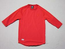 PUBLISH BRAND MENS CHERRY RED 3/4 SLEEVE COTTON JERSEY SHIRT SIZE SMALL NEW RARE