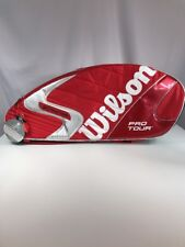 Wilson K Factor Six-One Tour 90 Super 6 Pack Red Tennis Bag Roger Federer New