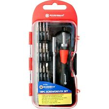 18PC RATCHET PRECISION SCREWDRIVER BIT SET SLOTTED PHILLIPS TORX MAGNETIC NEW