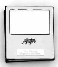 More details for dinosaur kr design silver personalised photo album free engraving 100 photos 103
