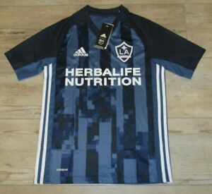 Authentic Adidas LA Galaxy Night Navy AeroReady Soccer Jersey size Youth XL