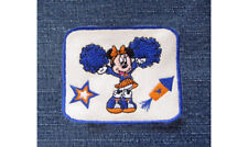 Minnie Mouse Cheerleader Pom Pom Rocket Star Blue and Gold GO TEAM Disney PATCH