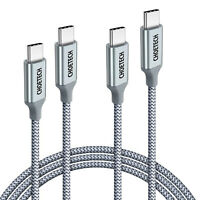 CHOETECH 6ft USB C Cable100W 20V/5A USB Type C Braided Cable for MacBook Pro Air