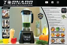 Tornado Professional Blender*Commercial *Vitamix-Alternative* 1800W*2.4 Hp*New*