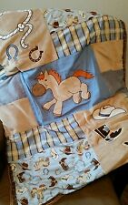Trend Lab Cowboy Baby crib quilt and window valance