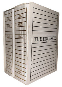 THE EQUINOX, VOLUME 1 NO 1-10 in 2 VOL, ALEISTER CROWLEY, THELEMA, OCCULT, OTO