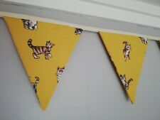 Yellow fabric bunting with gorgeous Cats and Kittens