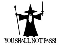 you shall not pass sticker, Decal, drift , jdm, vag, astra, funny, car