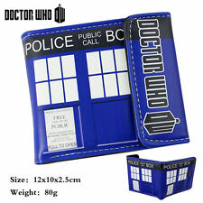 Doctor Who Tardis Trifold Wallet Police Box Thridold Foldable Coin Purse Gift