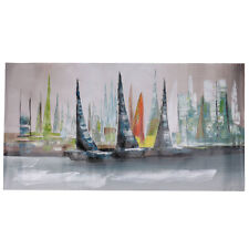 Modern Abstract Sailboat Large Wall Decor Art Oil Painting On Canvas No Framed