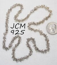 Unusual Signed JCM Jacmel Mauritius 925 Sterling Silver Ring Cluster Necklace