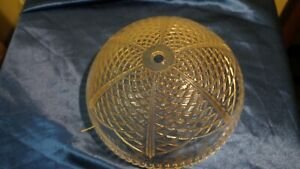 """10"""" WIDE CELINO CLEAR GLASS ROUND LIGHT COVER 3.5-4"""" DEEP"""