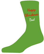 Red&White Happy Christmas Dad - Green Christmas Novelty Socks Special Socks