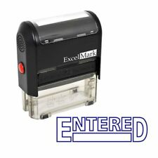 ENTERED - ExcelMark Self Inking Rubber Stamp A1539 | Blue Ink