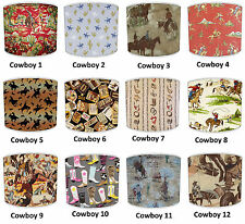 Cowboy Western Horse Ranch Lampshades ideal To match cowboy Wallpaper & Decals