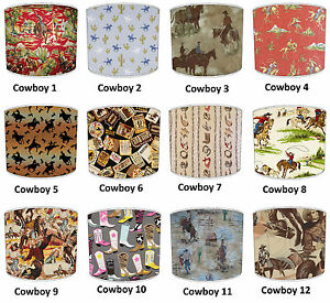 Cowboy Western Horse Ranch Lampshades To match Wallpaper Decals Curtains Duvet