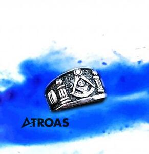 Masonic Sterling silver ring, Past Master, Mason,Handmade, All sizes Freemasonry