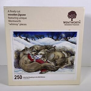 Wentworth Wooden Puzzle Little Red Reading Wild Wolves 250 Pieces Complete Rare