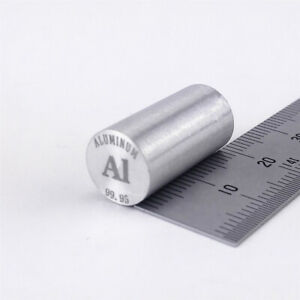 Aluminum Metal Rod 99.95% 4grams 10 diameter x 20mm length Element Al specimen