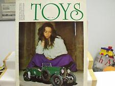 TOYS,VOL 1,NO 1,MAGAZINE,1975,42 PGS,DIECAST MODEL REVIEWS,FR/ENG/IT,EXCEL COND