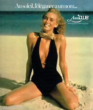 PUBLICITE ADVERTISING 036  1978  Anna Club  robe de plage maillot de bain
