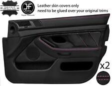 Pink Stitch 2X Front Full porte carte en cuir couvre Fits BMW 5 Series E39 95-03