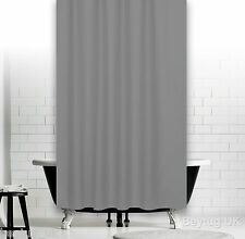 Plain Grey Fabric Shower Curtain in 5 Sizes, Extra Long , Wide or Narrow Width