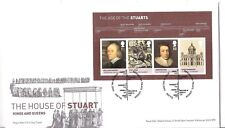 cover  topical England UK  The House of Stuart, timeline   postmark with insert