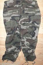 Zana Di original jeans camouflage capri pants tie bottoms size 3