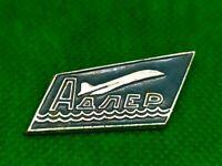 Vintage Soviet Pin Badge Adler Airport,Soviet Aviation,Airplane,USSR