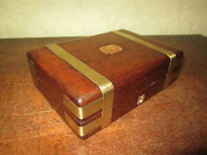 A gorgeous little antique brass bound box