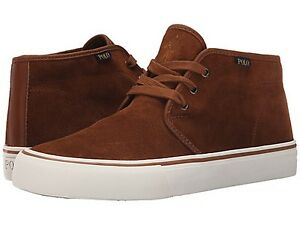 POLO RALPH LAUREN 816589617001 MAYKN SK VULC Mn's (M) Tan Leather Casual Shoes