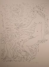 """Andre Masson Limited Edition Lithograph """"Terre Erotique"""" RARE & Signed, NICE!"""