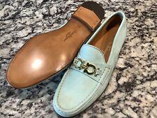 Women's New Other Ferragamo Seafoam Green Nubuck Loafers Shoes  9