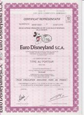 Euro Disney aandeel S.C.A. coupure van 10  eurodisney EURO DISNEYLAND