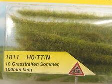 Grasstreifen 10 Stck. Sommerlich grün - 1 Meter lang    - Heki 1811  #E