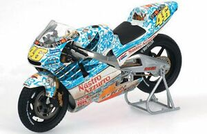 1:12 Rossi HONDA NSR 500 bike MUGELLO GP 2001 Weathered MINICHAMPS 122 016186
