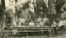 VINTAGE JACK RUSSELL BEER PICNIC USA FLAG RPPC AMERICAN VACATION FINE OLD PHOTO
