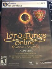THE LORD OF THE RINGS ONLINE Shadows Of Angmar WINDOWS PC DVD GAME LN