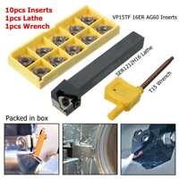 SER1212H16 Wendeplattenhalter Drehmeißel+10 VP15TF Wendeplatten 16ER AG60+Wrench