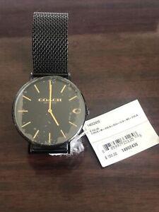 Coach Charles Men's black Mesh Bracelet Watch 14602438