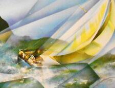 "Raymond POULET   Original-Farblithographie, handsign,  "" Far away """