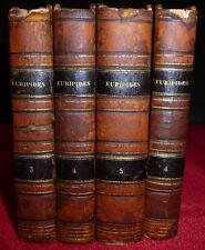 Euripides Plays in Greek, 1825  4 Miniature Volumes, Boissonade