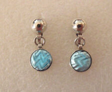 AMAZING VINTAGE SIGNED RMS STERLING SILVER 925 MEXICO SCREWBACK EARRINGS