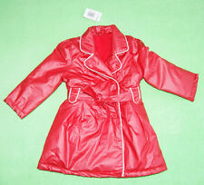 Red jacket coat with belt for girl 18-23 months 92cm waterproof