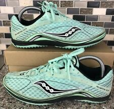 SAUCONY CROSS COUNTRY TRACK CLEATS/SPIKES KILKENNY XC4 MINT GREEN/BLACK SIZE 10