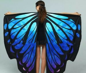 Butterfly Wings Shawl Cape Nymph Pixie Costume Carnival Performance  Mask Wings