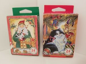 FX Schmid Mini Christmas Father Christmas w/Forest Animals Kitty & Angel 24 Pcs