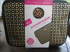 """Duchess Sleeve Black & Gold Macbeth Collec Up to 10.2"""" Tablet Laptop Case Cover"""