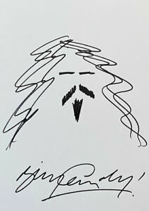 Billy Connolly 'Comedian' Self Portrait Sketch Doodle 12x8 Art Drawing Signed
